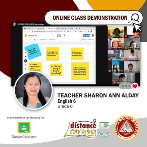 Online Class Demonstration 1