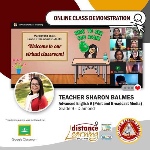Online Class Demonstration 2